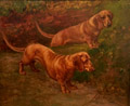 Dachshunds in a Landscape